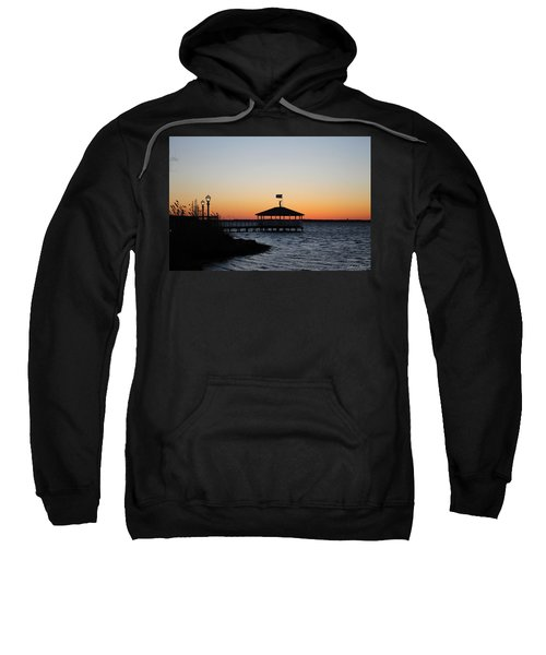 Sunset At Fagers Island Gazebo Sweatshirt