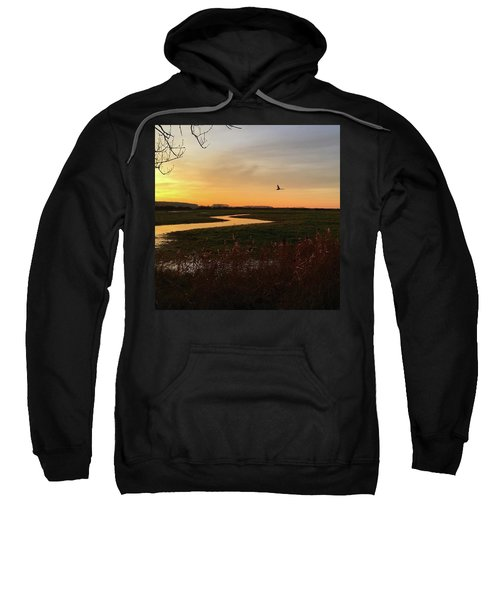 Sunset At Holkham Today  #landscape Sweatshirt