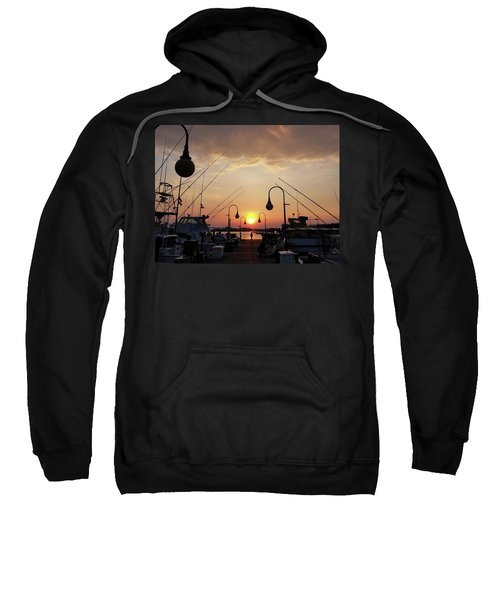 Sunset At The End Of The Talbot St Pier Sweatshirt