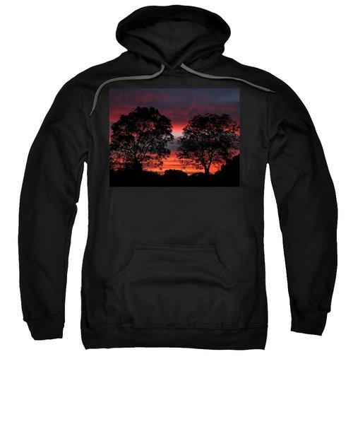 Sunset Behind Two Trees Sweatshirt