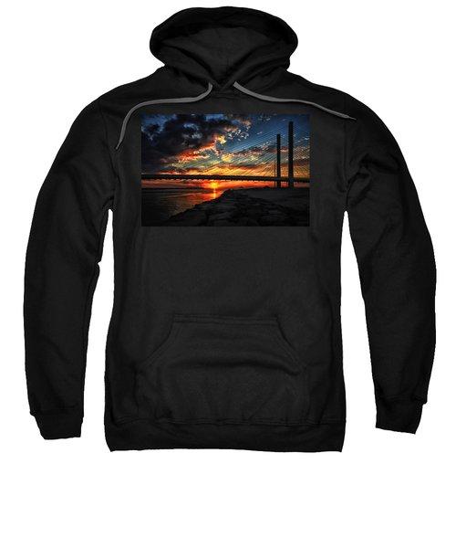Sunset Bridge At Indian River Inlet Sweatshirt