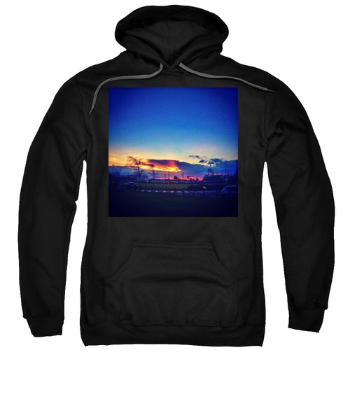 Sunset In College  #sunset #college Sweatshirt