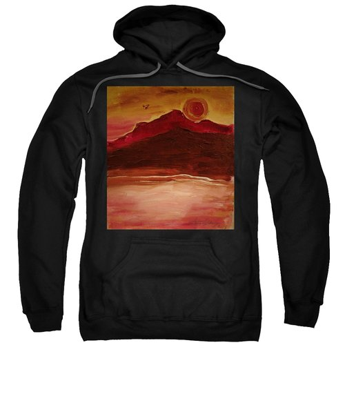 Sunset On Red Mountain Sweatshirt