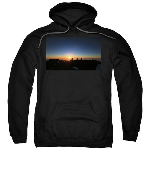Sunset On The Mauna Kea Observatories Sweatshirt
