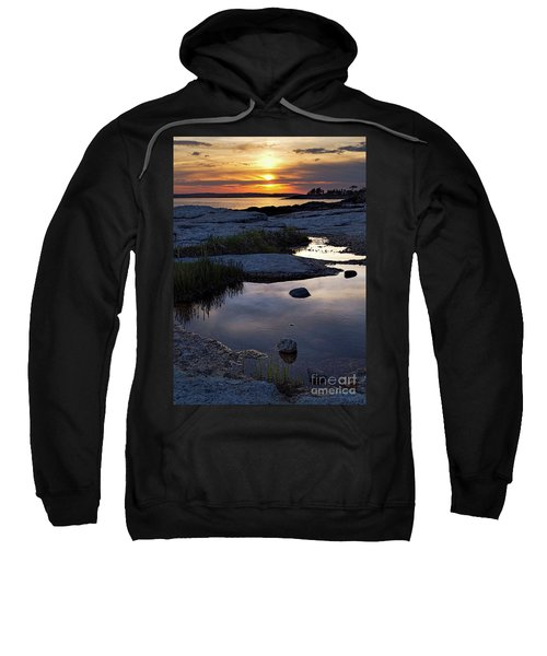 Sunset Over Boothbay Harbor Maine  -23095-23099 Sweatshirt