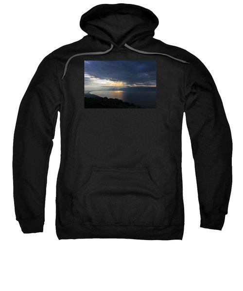 Sweatshirt featuring the photograph Sunset Over The Sea Of Galilee by Dubi Roman