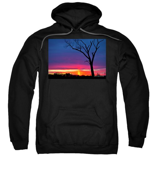 Sunset Sundog  Sweatshirt by Ricky L Jones