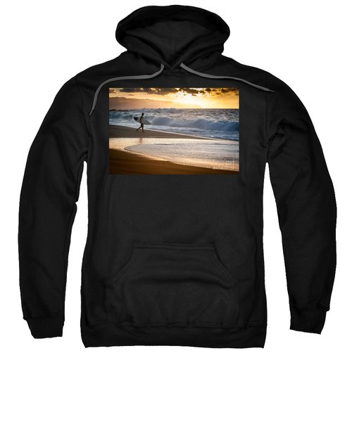 Surfer On Beach Sweatshirt