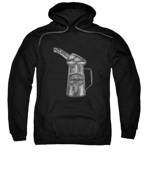 Swingspout Oil Can Bw Sweatshirt by YoPedro
