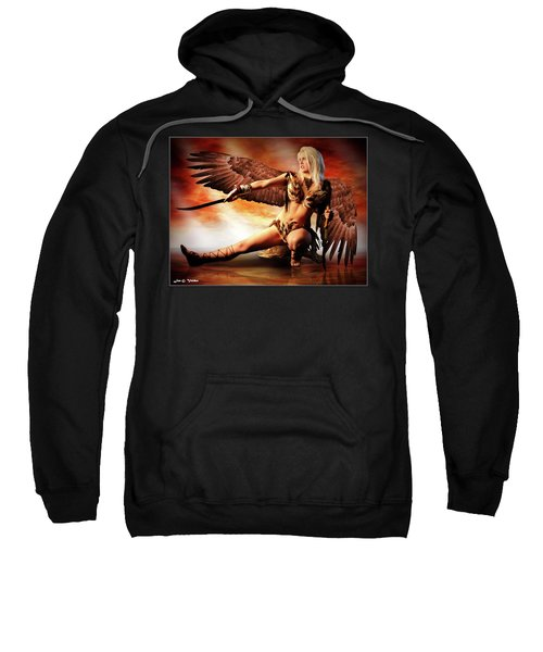 Swords Of The Hawk Woman Sweatshirt