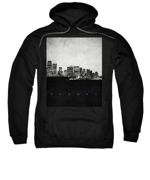Sydney City Skyline With Opera House Sweatshirt
