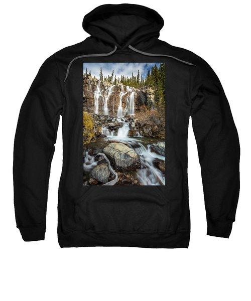 Tangle Waterfall On The Icefield Parkway Sweatshirt