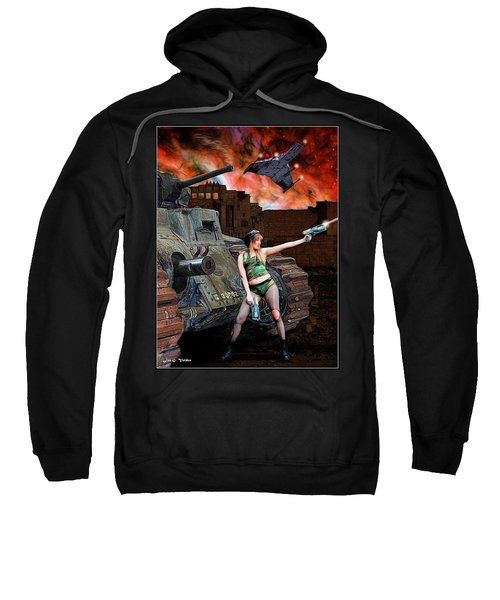 Tank Girl In Action Sweatshirt