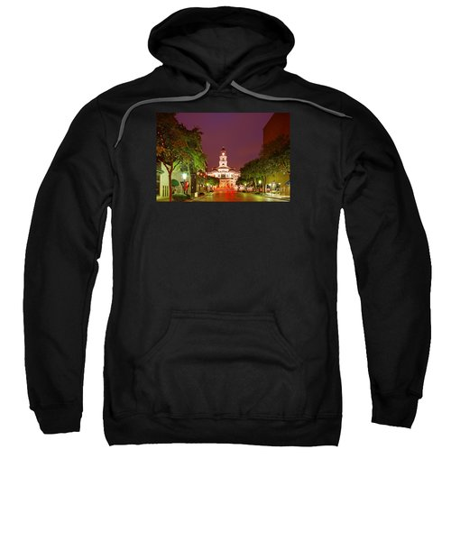 Tarrant County Courthouse At Twilight - Fort Worth North Texas Sweatshirt