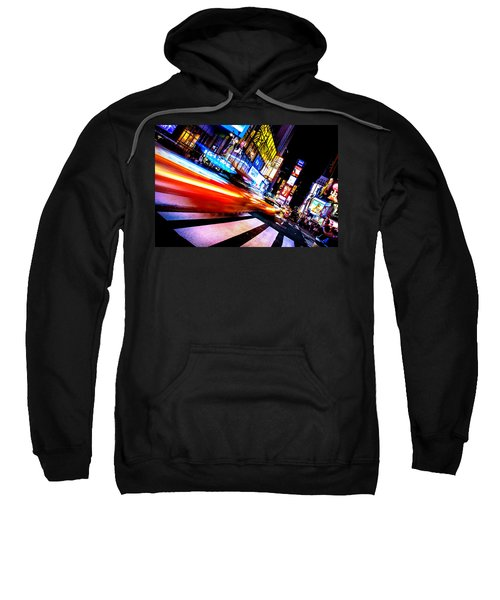 Taxis In Times Square Sweatshirt by Az Jackson