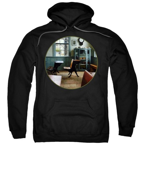 Teacher - One Room Schoolhouse With Clock Sweatshirt