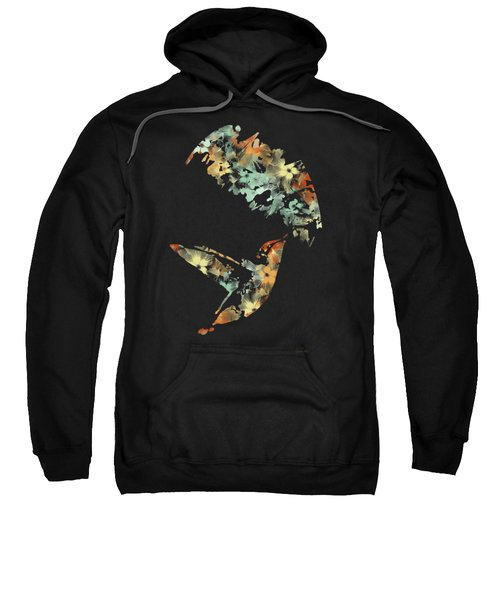 Floral Hummingbird Art Sweatshirt
