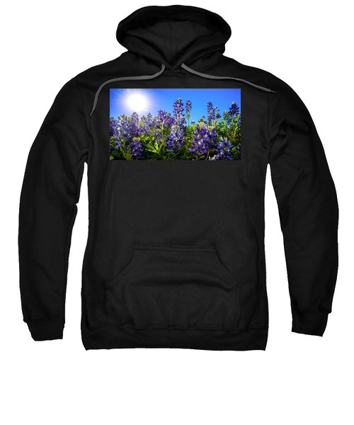 Texas Bluebonnets Backlit II Sweatshirt