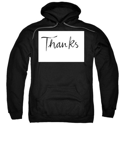 Thanks Handlettering Sweatshirt