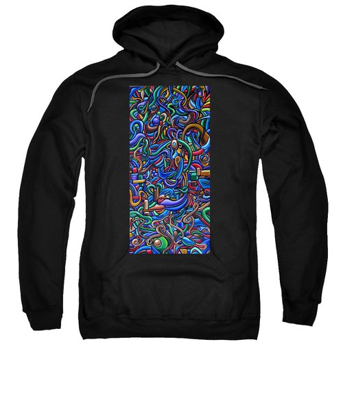 Colorful Abstract Art Abstract Painting Colorful Chromatic Acrylic Painting Sweatshirt