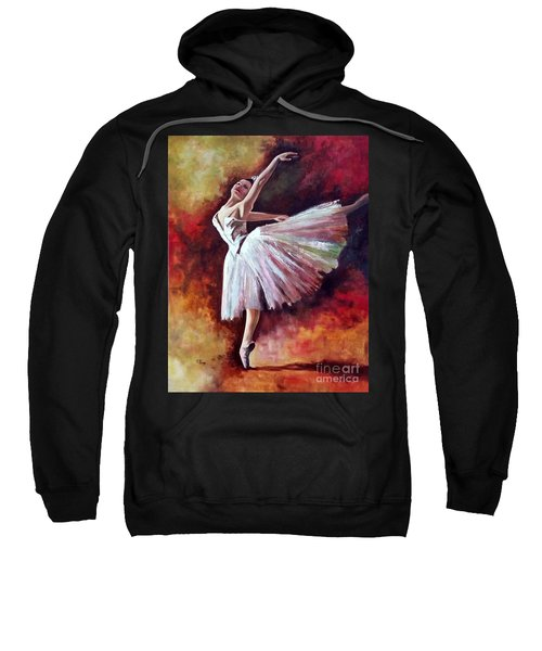 The Dancer Tilting - Adaptation Of Degas Artwork Sweatshirt