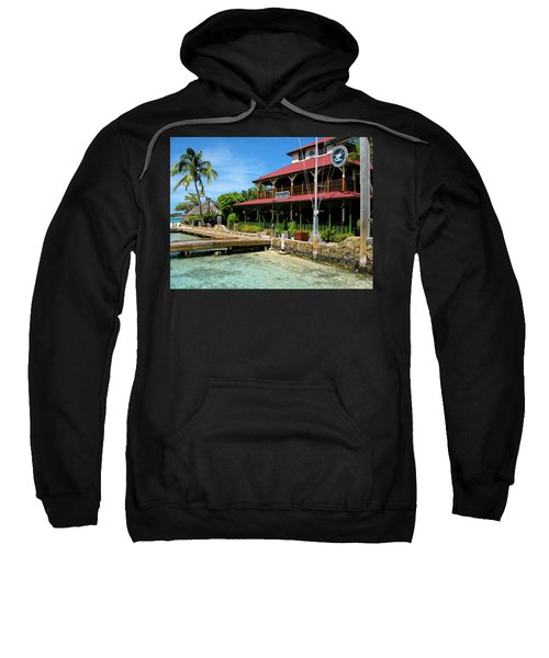 Sweatshirt featuring the photograph The Bitter End Yacht Club by Adam Romanowicz