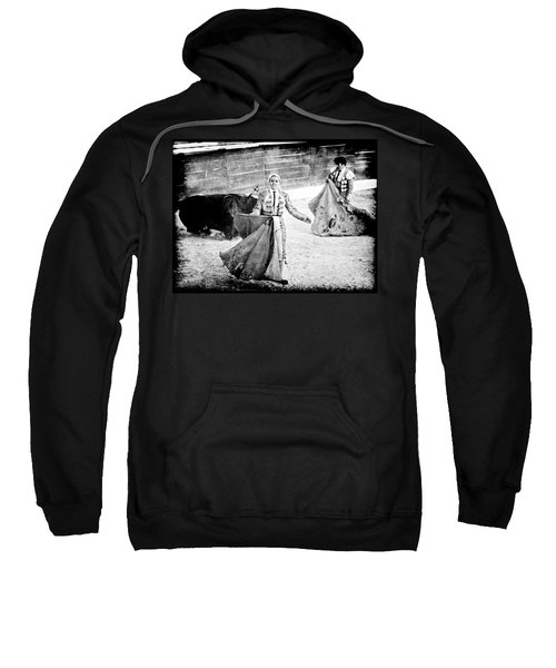 The Blond, The Bull And The Coup De Gras Bullfight Sweatshirt