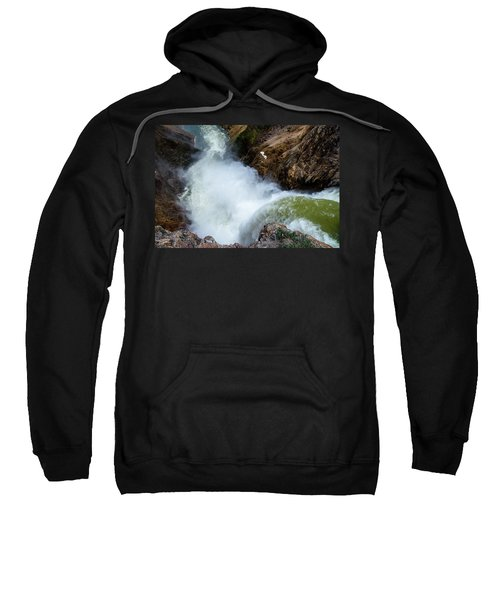 The Brink Of The Lower Falls Of The Yellowstone River Sweatshirt