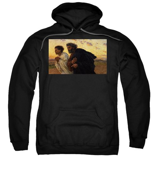 The Disciples Peter And John Running To The Sepulchre On The Morning Of The Resurrection Sweatshirt