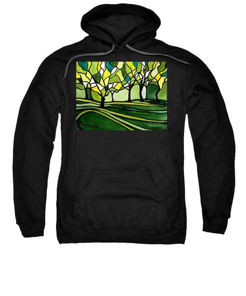 The Emerald Glass Forest Sweatshirt