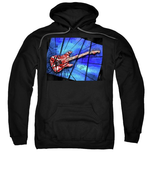 The Frankenstrat On Blue I Sweatshirt by Gary Bodnar