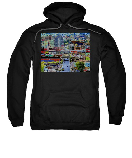 The Heart Of Downtown Spokane  Sweatshirt