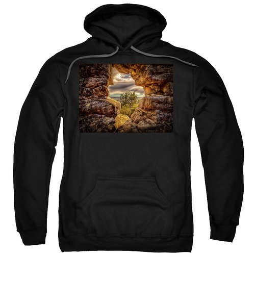 Sweatshirt featuring the photograph The Hole In The Wall by Chris Cousins
