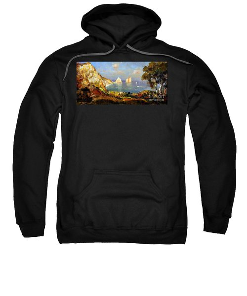The Island Of Capri And The Faraglioni Sweatshirt