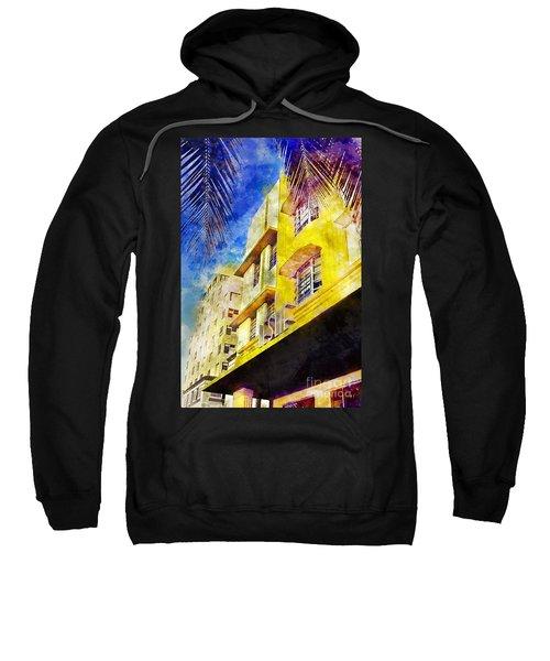 The Leslie Hotel South Beach Sweatshirt by Jon Neidert