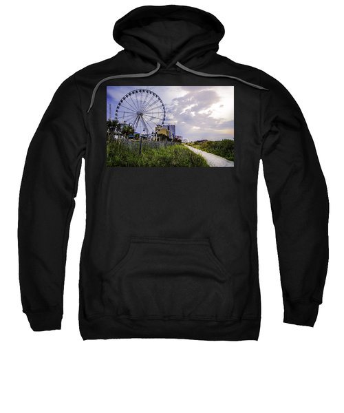 The Myrtle Beach, South Carolina Skywheel At Sunrise. Sweatshirt