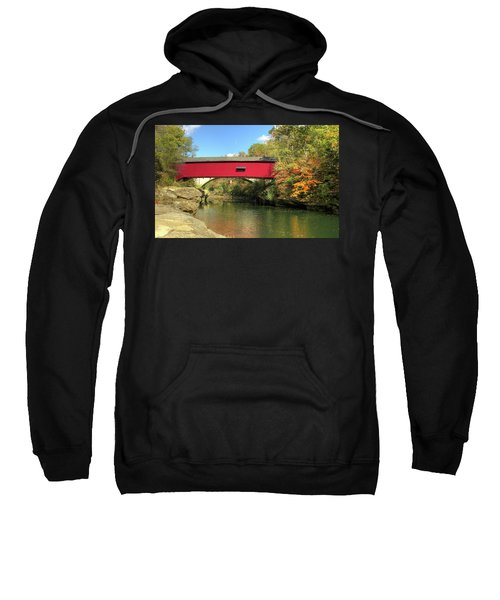 The Narrows Covered Bridge - Sideview Sweatshirt