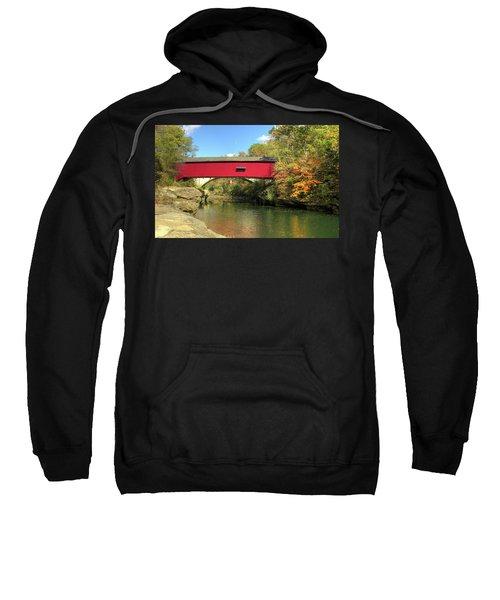 The Narrows Covered Bridge - Sideview Sweatshirt