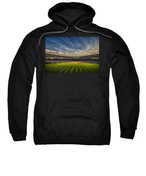 The New Wrigley Field With Pretty Sunset Sky Sweatshirt