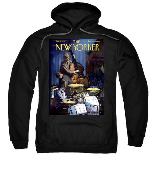 The New Yorker Cover - January 4th, 1958 Sweatshirt