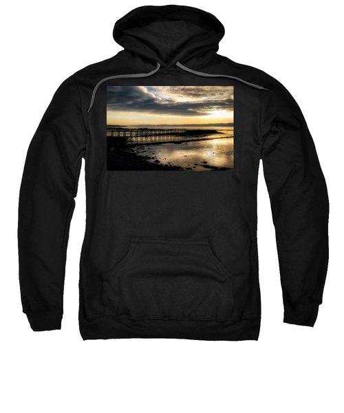 The Old Pier In Culross, Scotland Sweatshirt