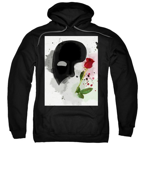 Sweatshirt featuring the mixed media The Phantom Of The Opera by Dan Sproul