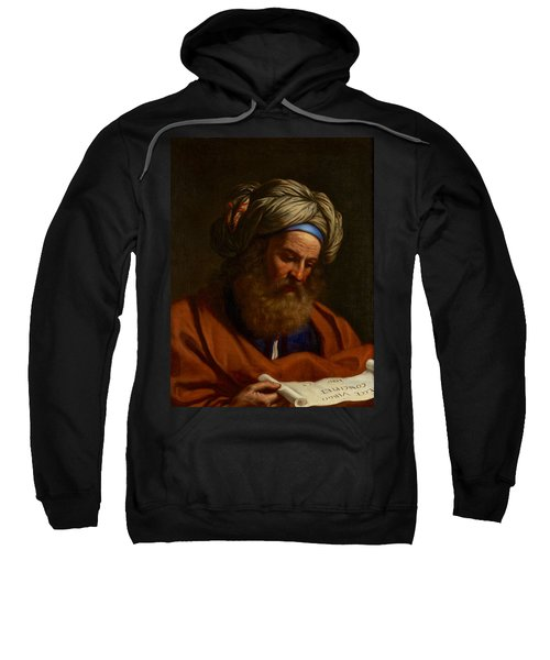 Sweatshirt featuring the painting The Prophet Isaiah by Celestial Images