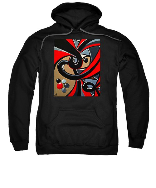 Red And Black Abstract Art Painting Sweatshirt