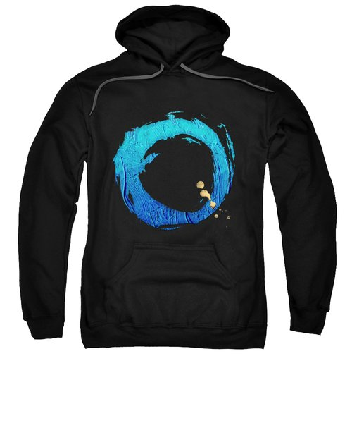 The Rings - Blue On Black With Splash Of Gold No. 4 Sweatshirt