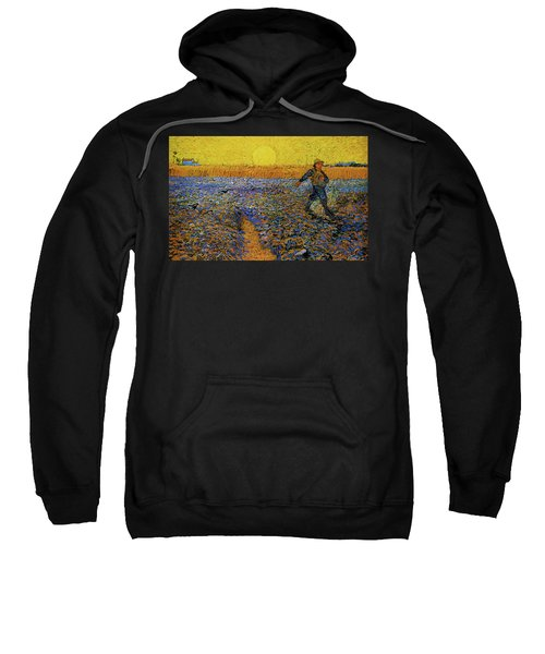 Sweatshirt featuring the painting The Sower by Van Gogh