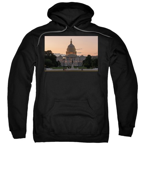 The United States Capitol At Sunrise Sweatshirt