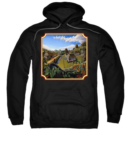 The Veon's Farm Life Country Landscape - Square Format Sweatshirt