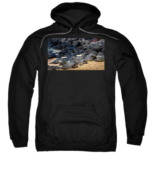 Sweatshirt featuring the photograph There Has Got To Be More Room On This Beach  by Jim Thompson