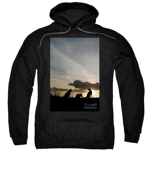 Three Dogs At Sunset Sweatshirt